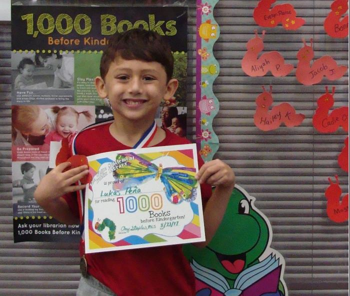 Lukas read 1000 books