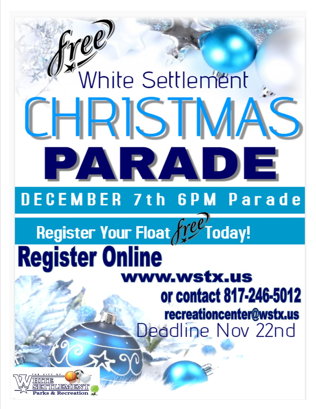 Christmas parade sign up sheet