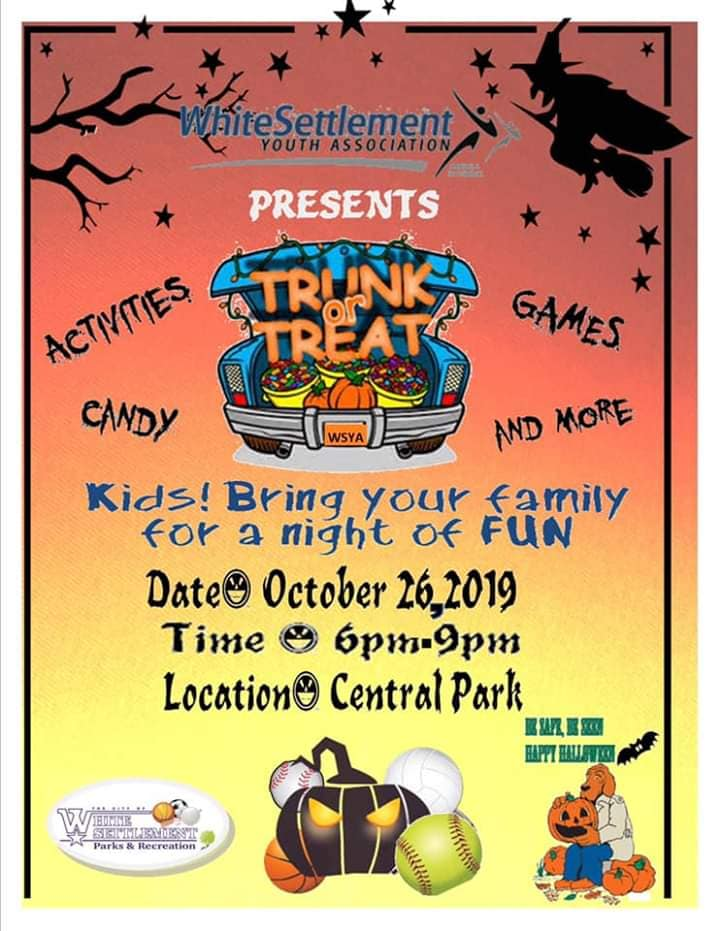 trunk or treat event flyer