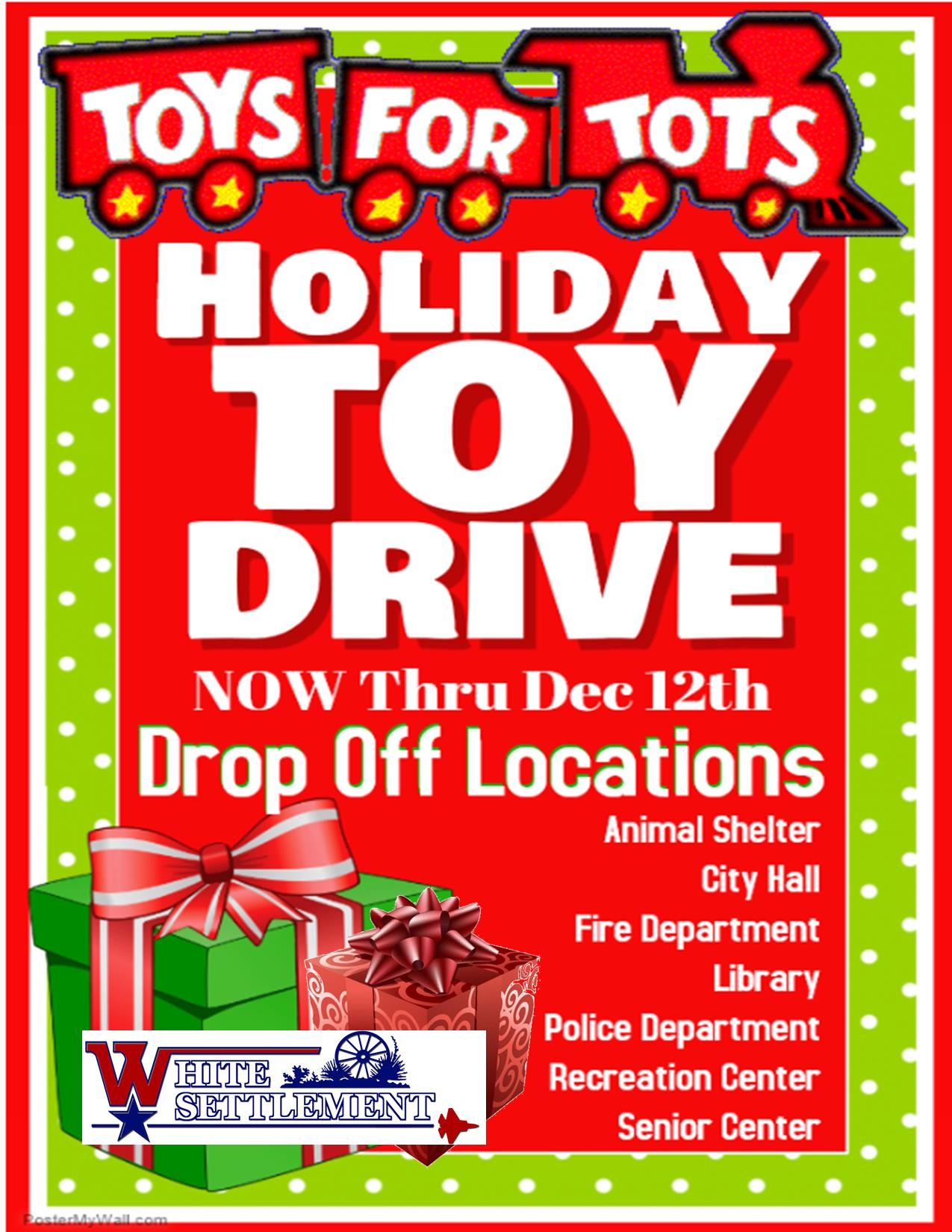 flyer for a toy donation drive