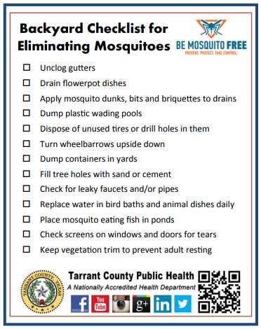 checklist of anti mosquito measures in english