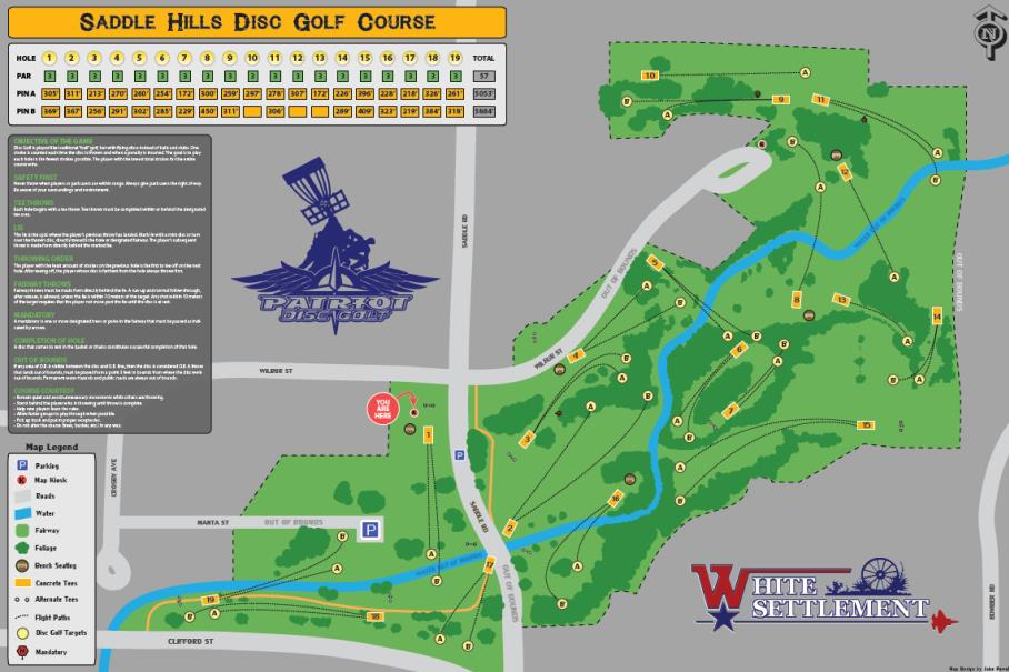 Saddle Hills Disc Golf Course Map (JPG)
