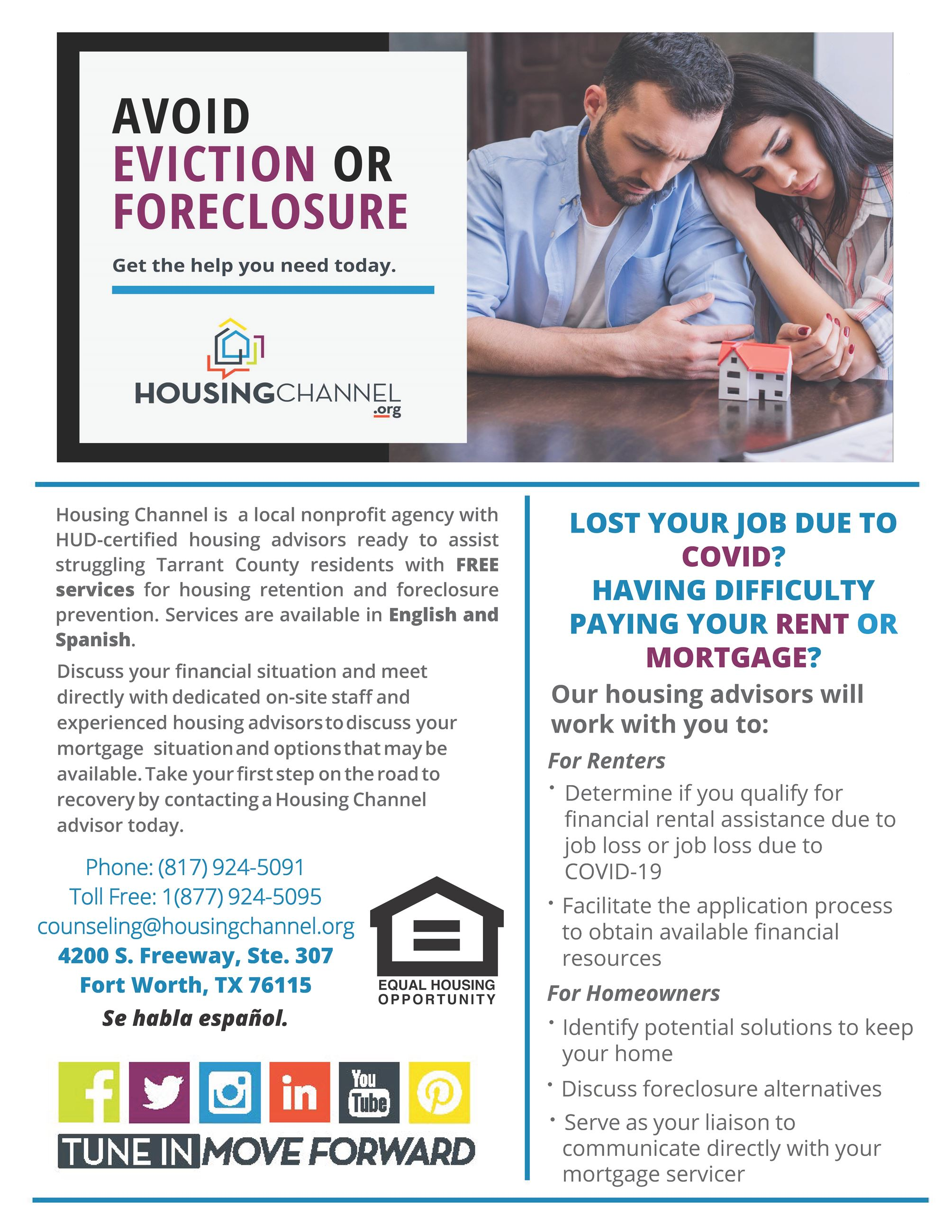 Housing Channel_Foreclosure Prevention Flyer