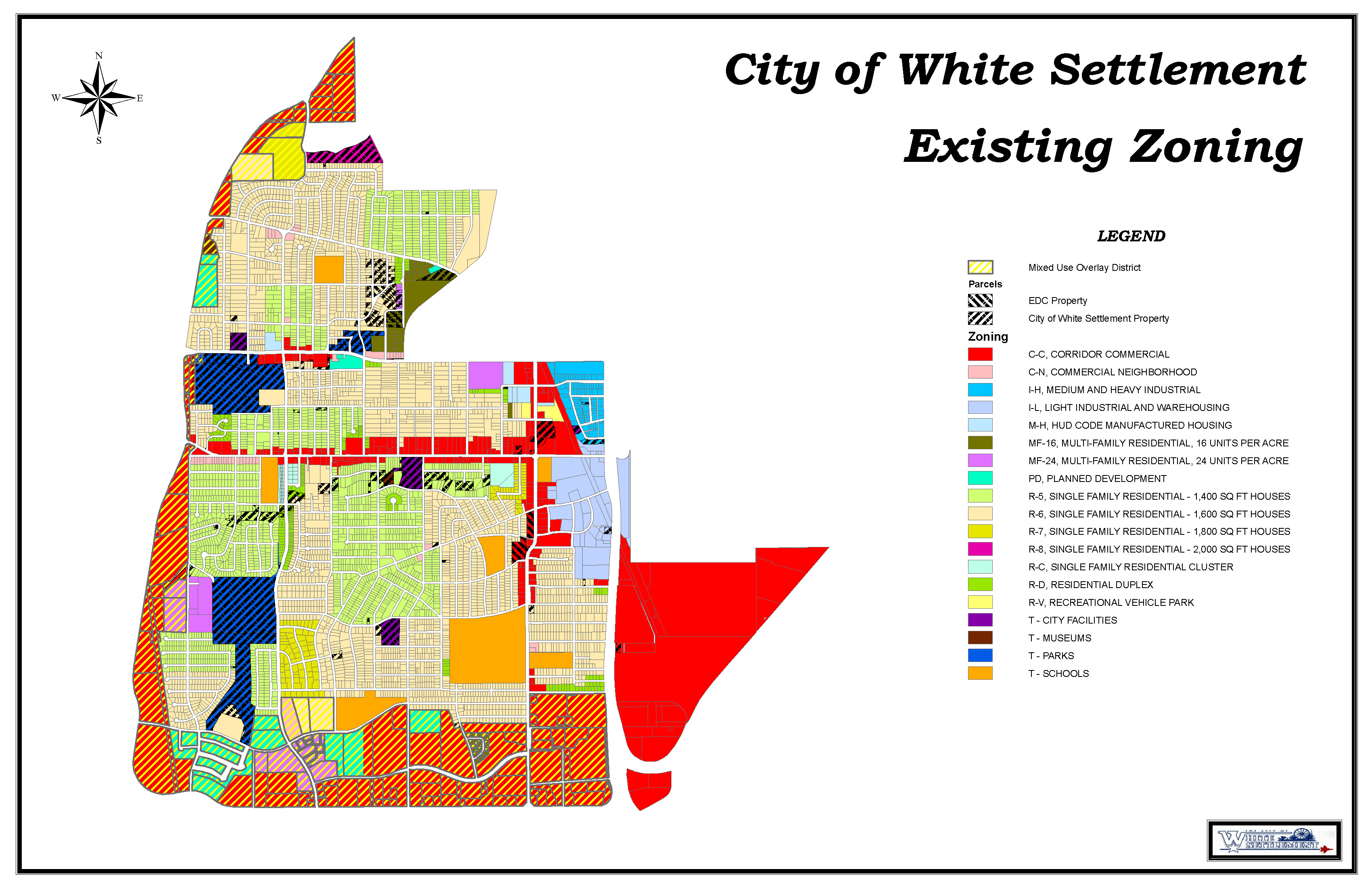 map of the zoning in White Settlement